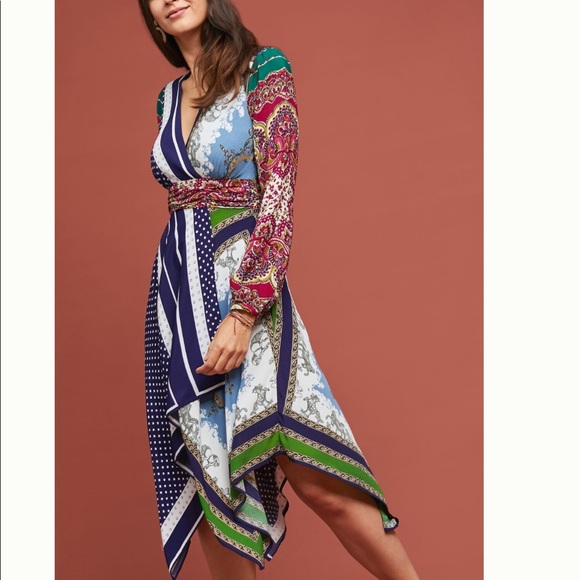 Anthropologie Dresses & Skirts - BNWT Anthropologie Istanbul Wrap Dress 0P
